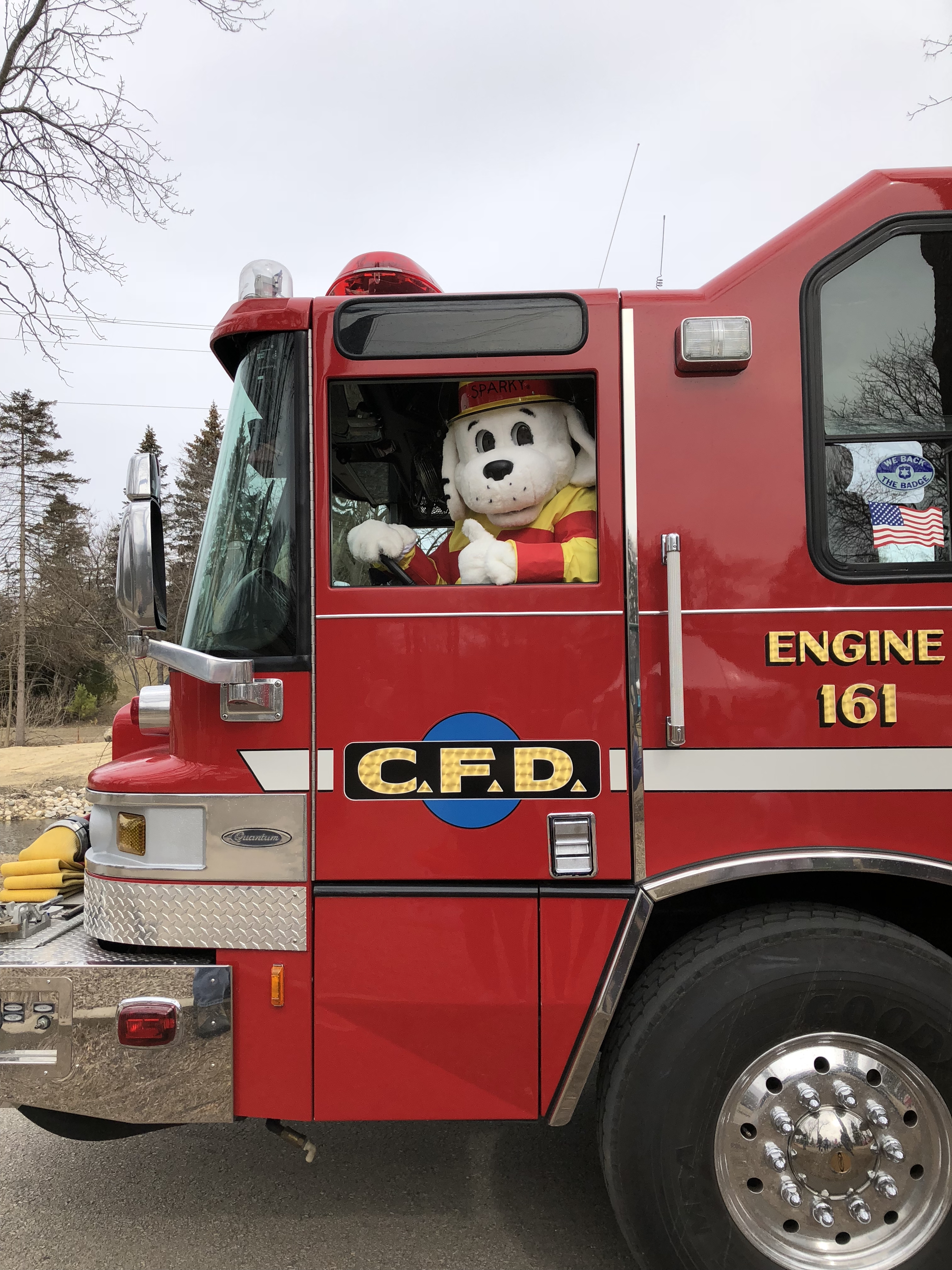 Sparky driving Engine 161